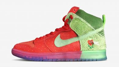 Photo of Nike SB Dunk High Strawberry Cough Raffles