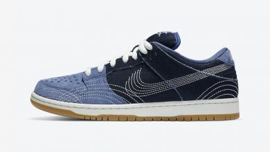 Photo of Nike SB Dunk Low PRM Sashiko Denim Gum Raffles & Release Links